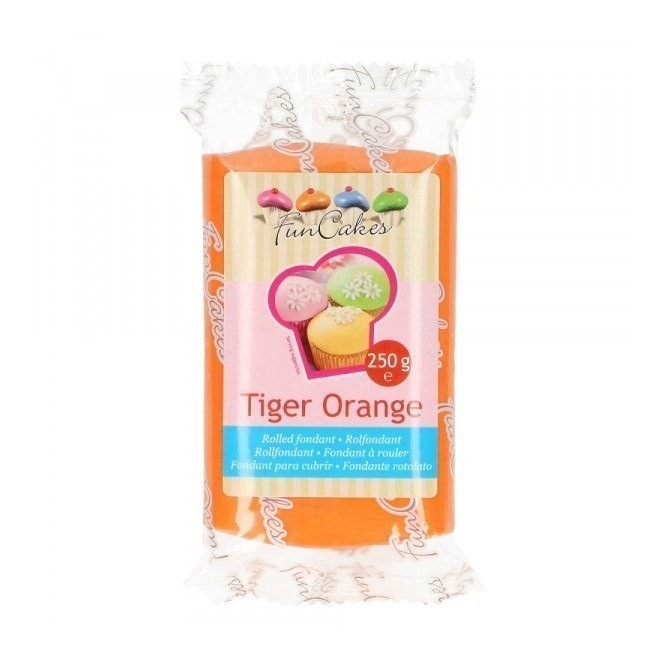 FunCakes Fondant Orange Tiger 250g