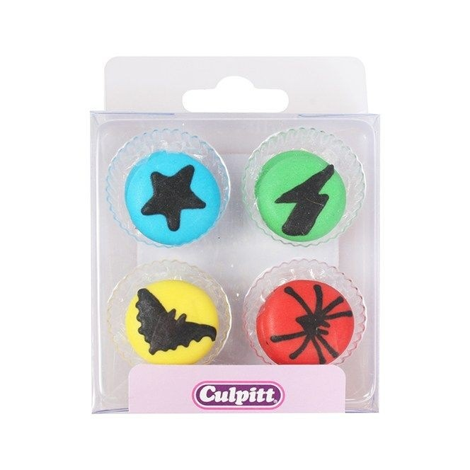 Mermaid  Sugar Decorations - 12pc- Culpitt
