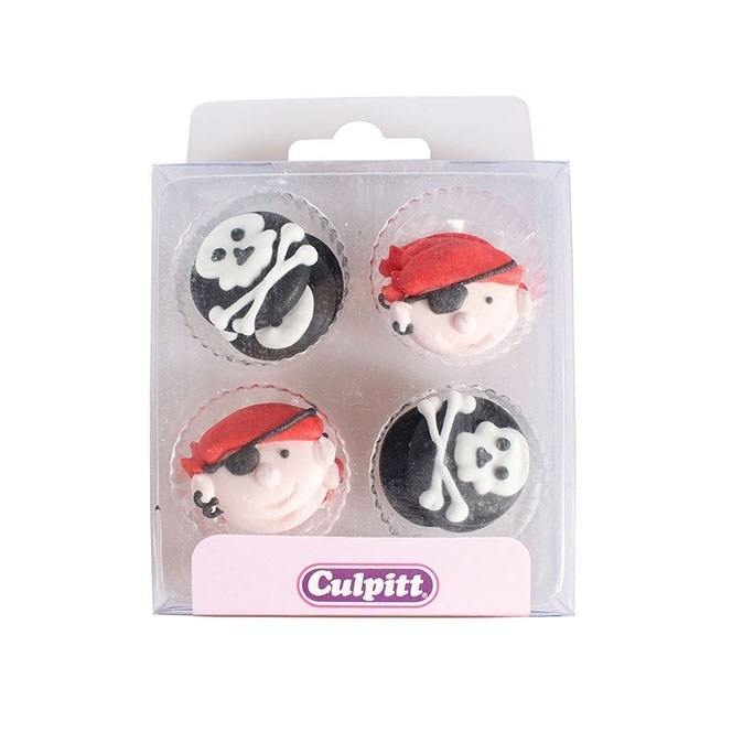 Pirate Sugar Decorations - 12pc- Culpitt