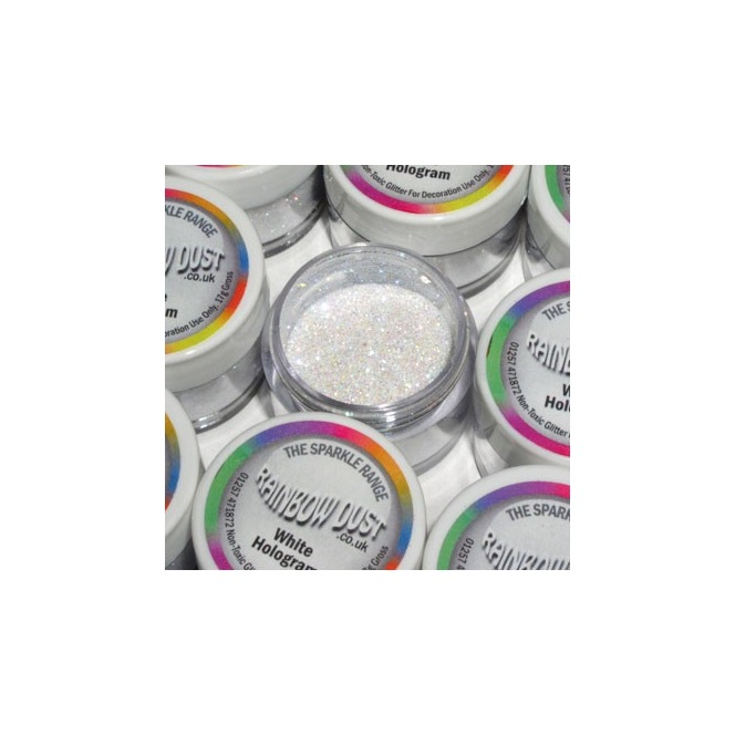 Decorative Glitter White Hologram Rainbow Dust 5g