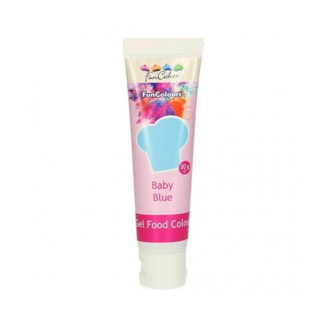 Gel Food Colour - Baby Blue - FunCakes