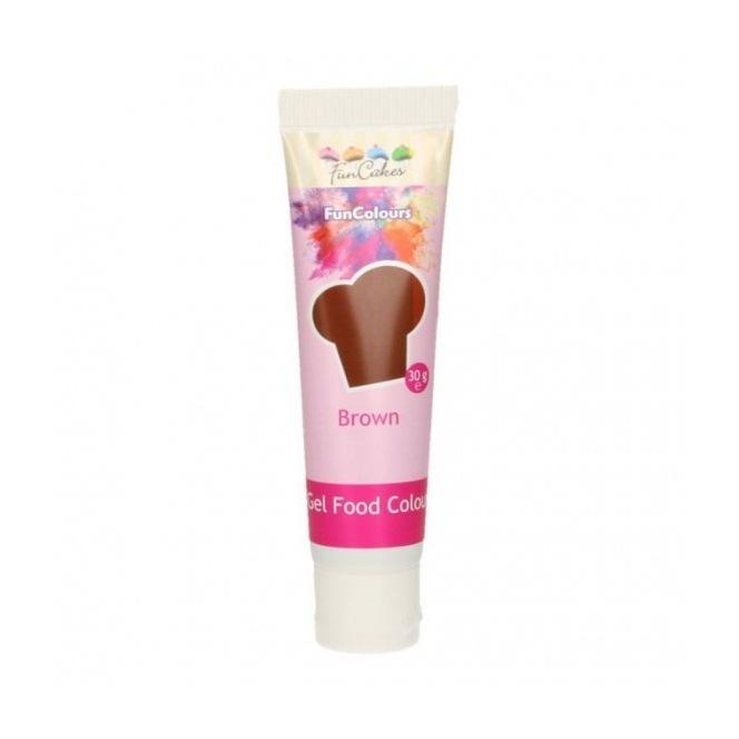 Gel Food Colour - Brown- FunCakes