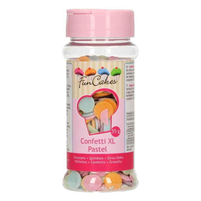 Pastel Confetti XL Mix 55g FunCakes