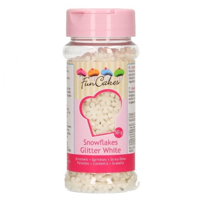 Snowflakes Glitter White Funcakes 50g