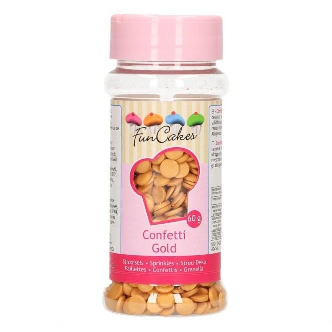 Sprinkles Gold Confetti 60g Funcakes