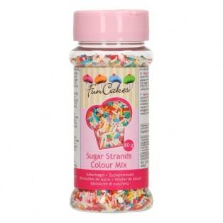 FunCakes Sugar Strands - Colour Mix - 80g