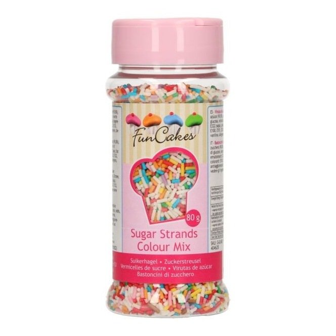 FunCakes Sugar Strands - Colour Mix - 80g
