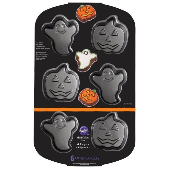 Ghost & Jack-O-Lantern Mini Cake Pan Wilton