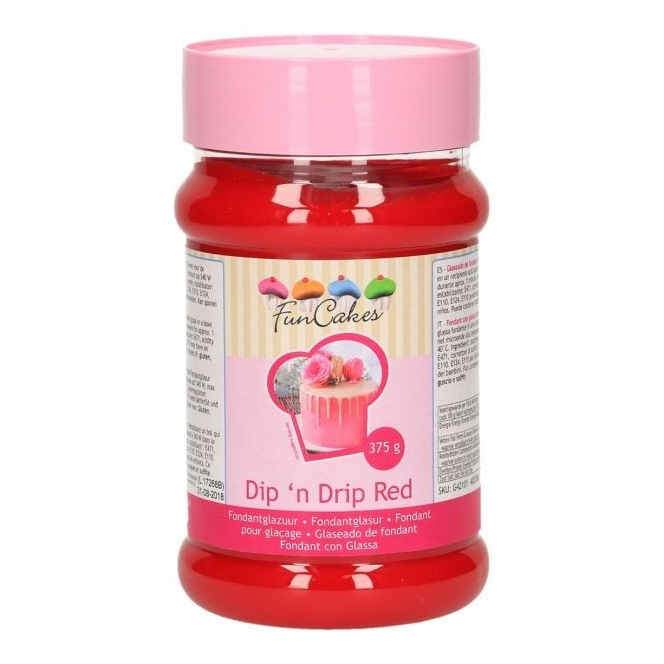 FunCakes Dipn Drip Red - 375g