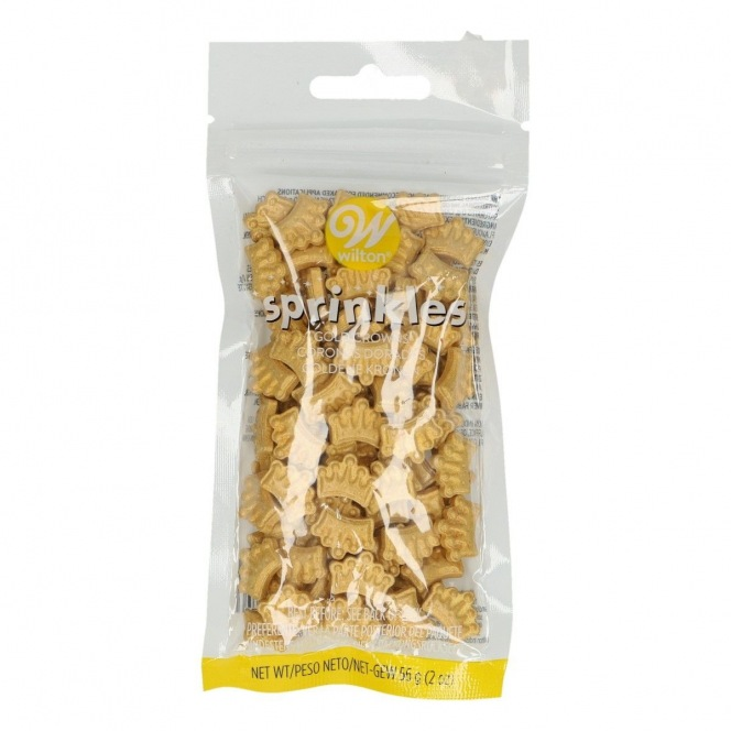 Wilton Gold Crown Sprinkles - 56gr