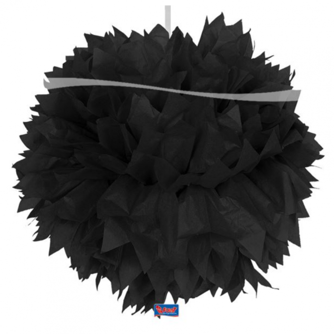 Pom-Pom Decoration - Black
