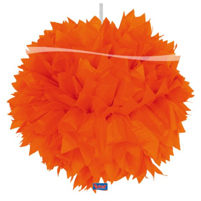 Pom-Pom Decoration - Orange