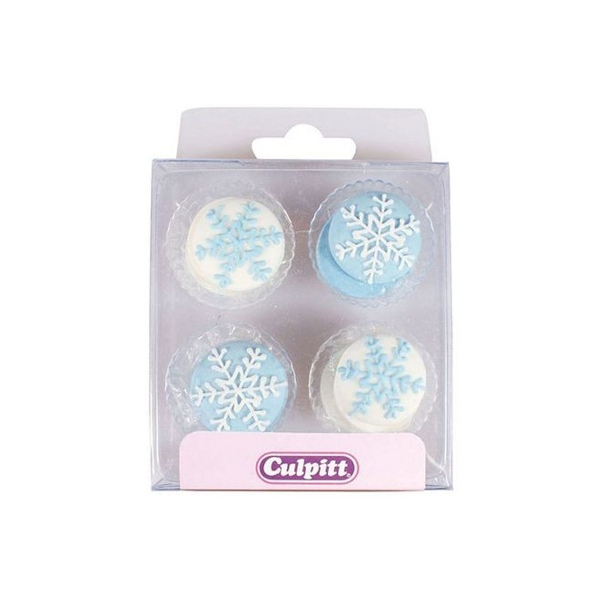 Snowflakes Sugar Decorations - 12pc - Culpitt