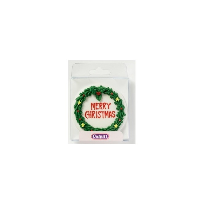 Merry Christmas Round Wreath - Culpitt