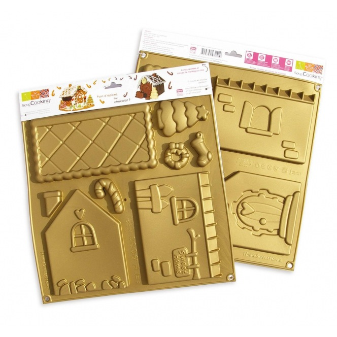 """Little man's house"" Scrapcooking silicone mould"