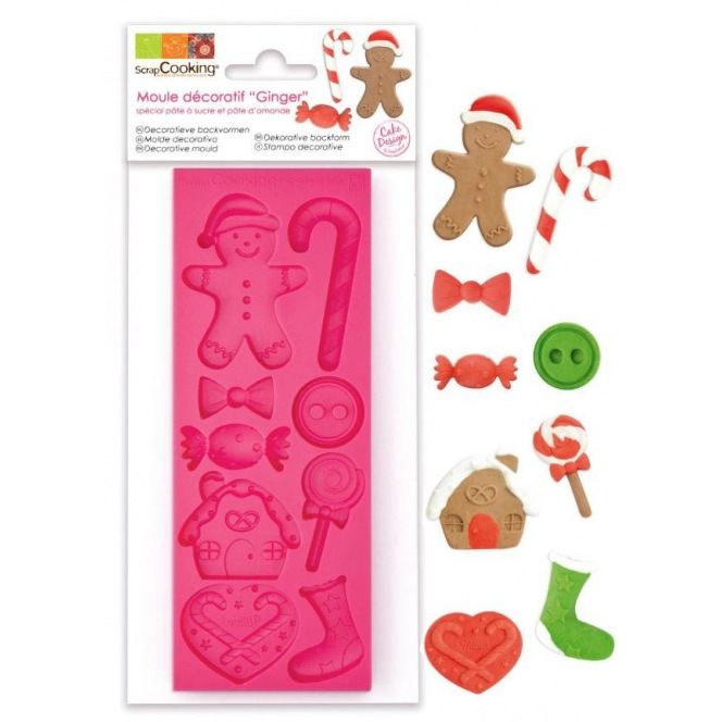 "Decorative Silicone Mould ""Ginger"""
