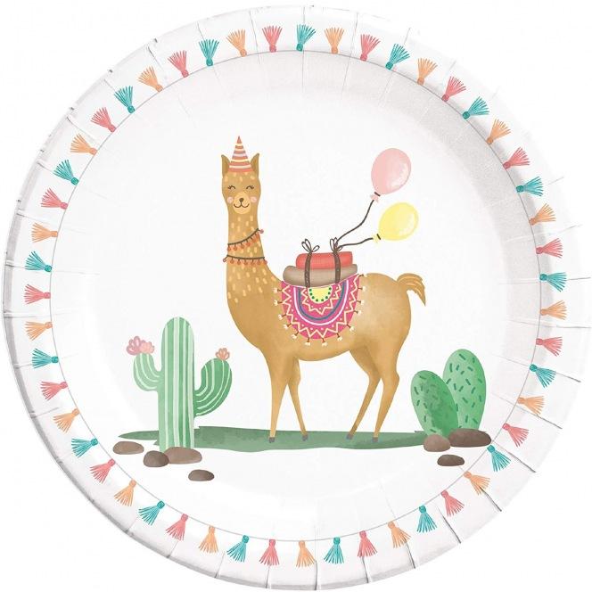 8 paper plates - Llama