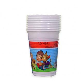 8 Plastic Cups - Paw Patrol