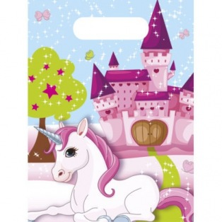 6 unicorn Party Bags