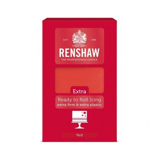 Rollfondant - Red - 1kg- Renshaw Extra