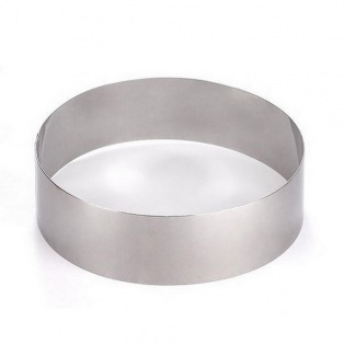 Cake Ring Stainless Steel - 6cmx12cm - Decora