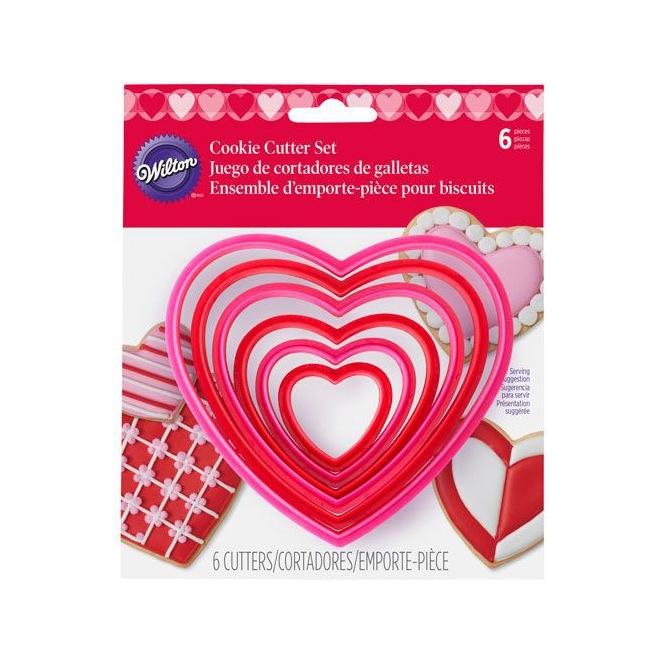 Cookie Cutter Nesting Heart Set/6