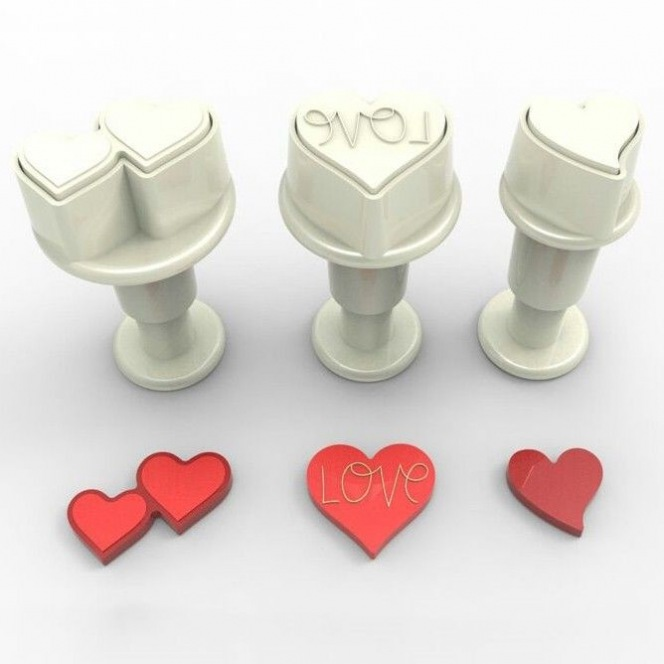 Mini Plungers Hearts - 3pc - Dekofee
