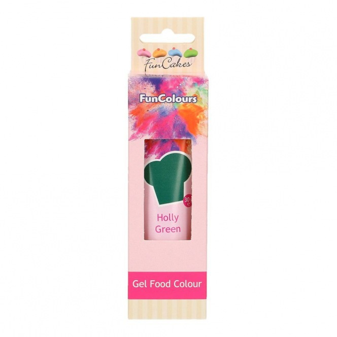 Gel Food Colour - Holly Green - FunCakes