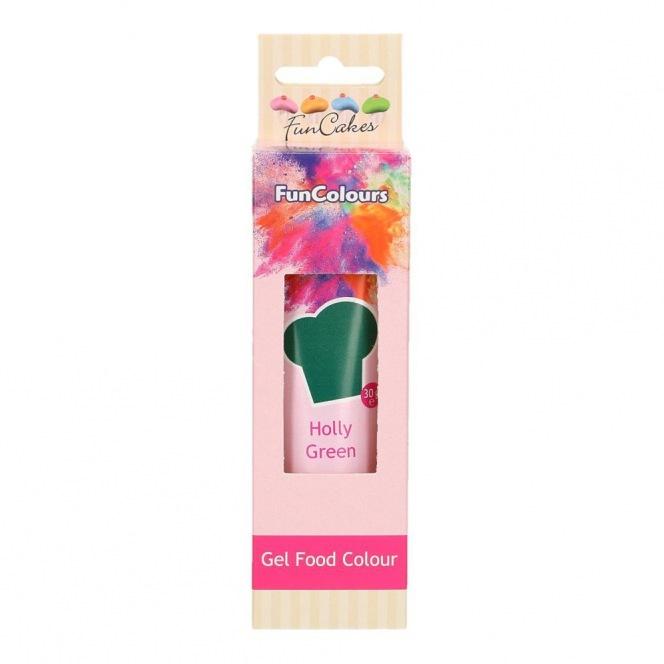 Gel Food Colour - Holly Green - FunCakes