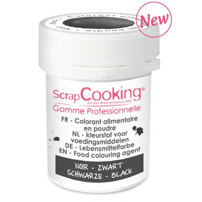 Food Colouring Powder - Black - Scrapcooking 5g