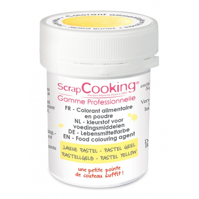 Coloring Powder Pastel Yellow Scrapcooking 5g