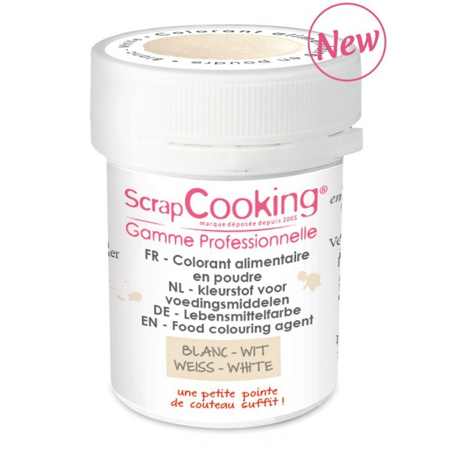 Coloring Powder White Scrapcooking 5g