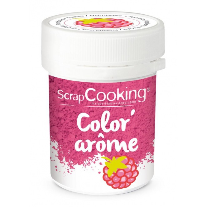 Colouring & Flavoured Mix Fuschia/Raspberry - Scrapcooking10g