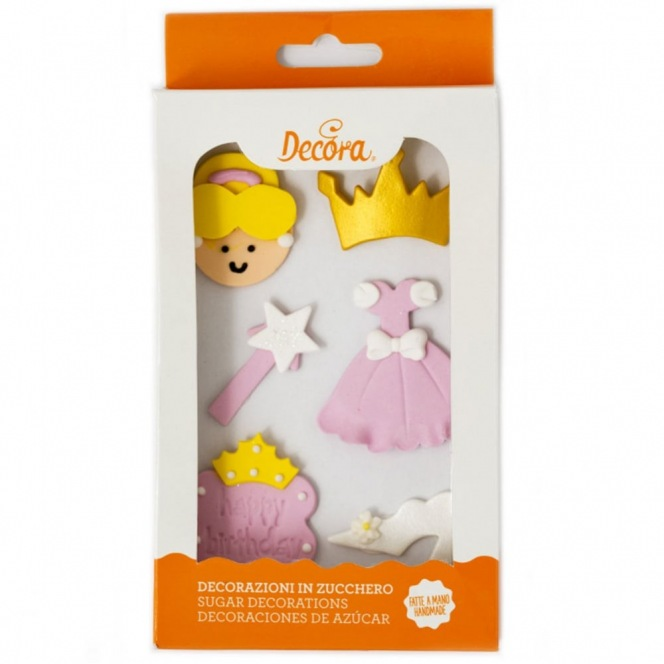 Sugar Decoration - Pink Princess - 6pc
