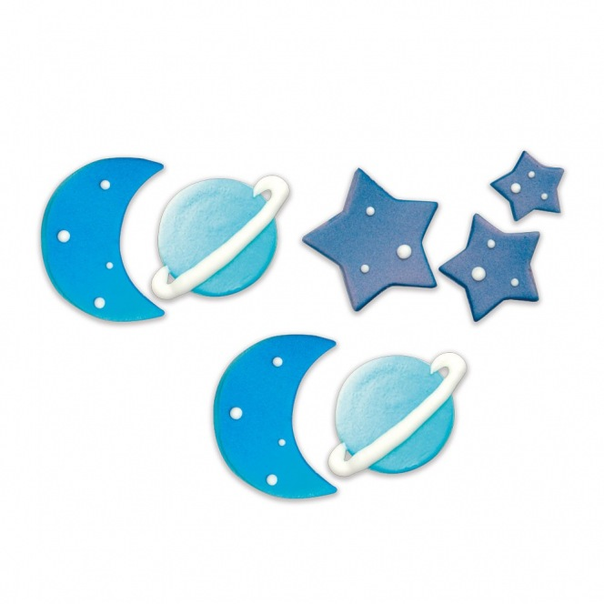 Sugar Decorations - Galaxy - 10pcs - Decora