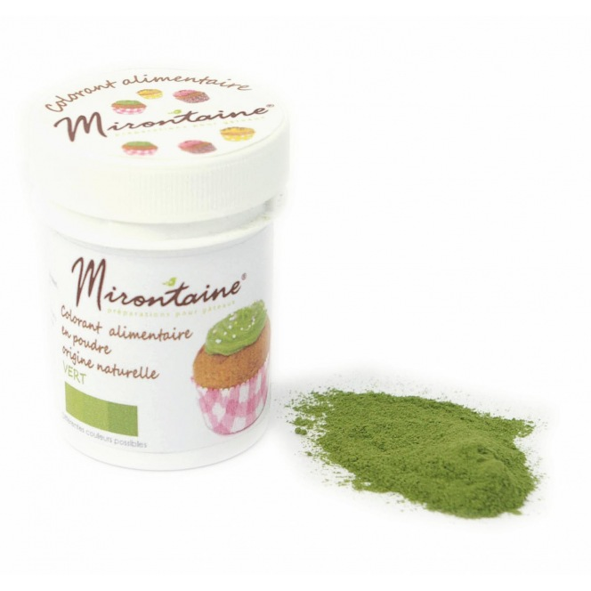 Organic Food colouring - Green -Mirontaine - 10g