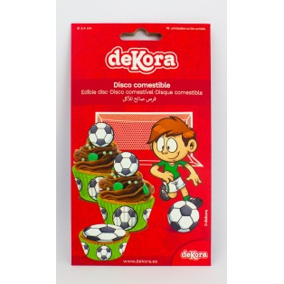 Edible disc for Football cupcakes