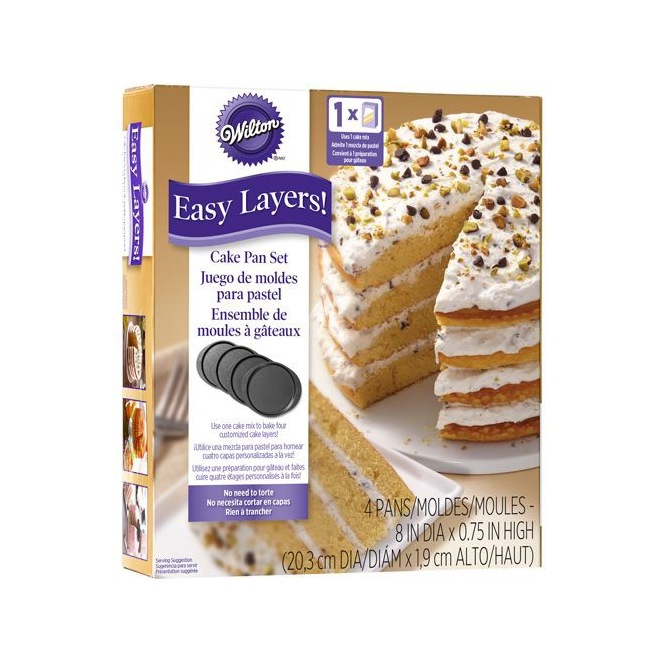 Cake Pan Easy Layers 20cm set/4 Wilton