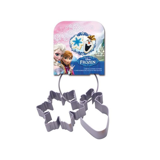 2 Metal Cookie Cutters -Frozen- Stor