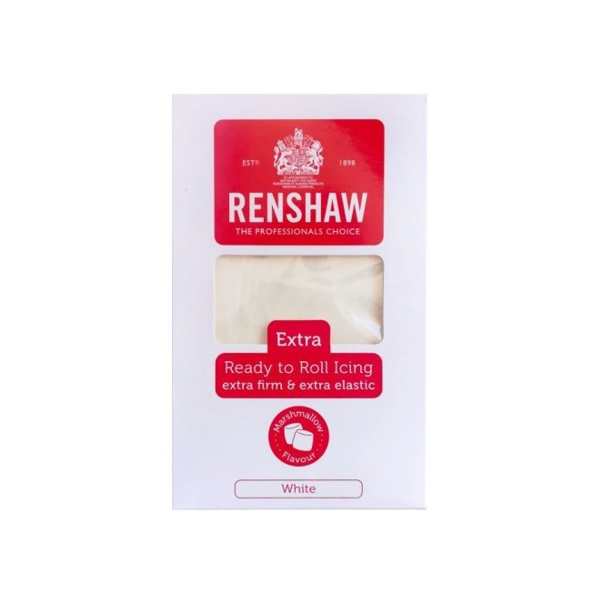 Ready to roll Icing Extra Marshamallow Taste - White 1kg - Renshaw