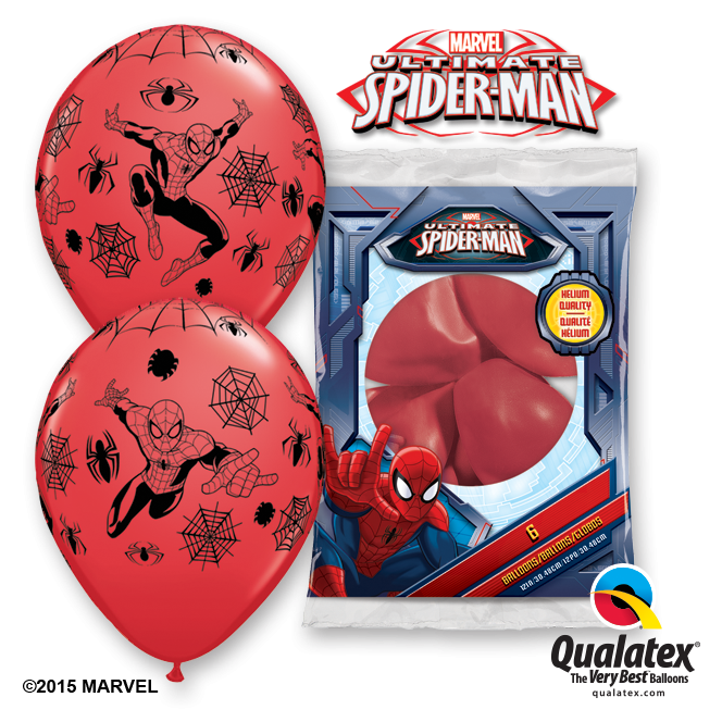 6 Ballons Spiderman en latex