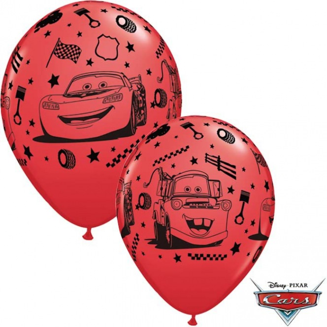 6 Cars Balloons latex