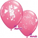 6 Minnie Mouse Balloons latex