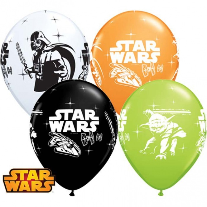 6 Star Wars Balloons latex