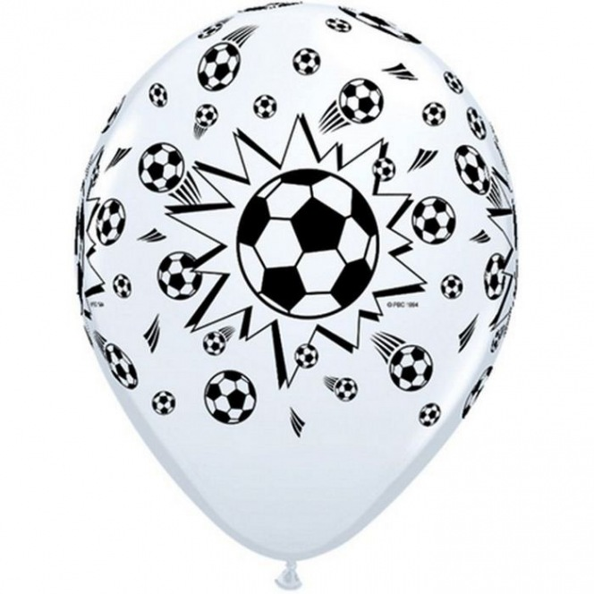 6 Football Balloons latex