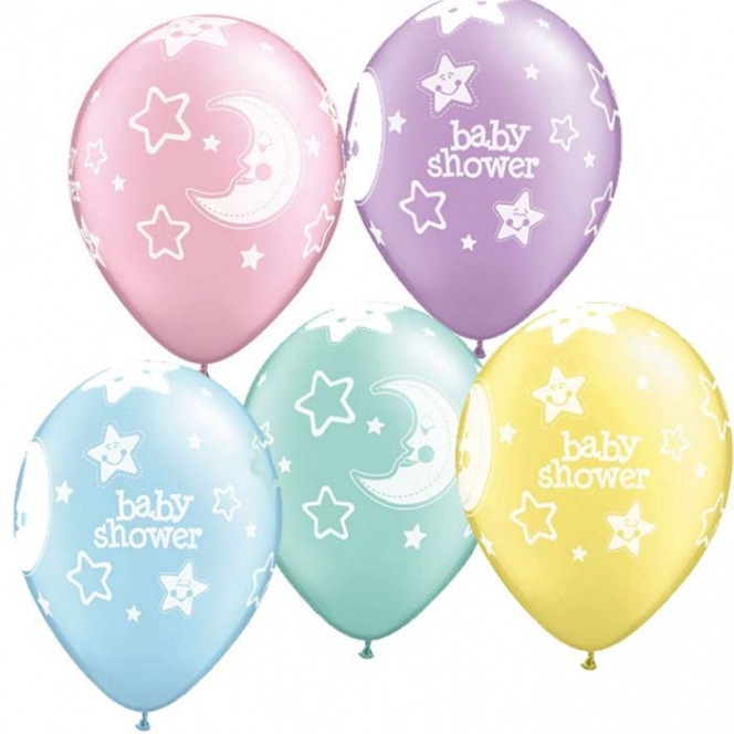 6 Baby shower Balloons latex