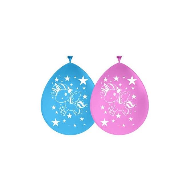 8 Unicorn Balloons latex