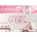 Aluminium balloons pink baby GIRL