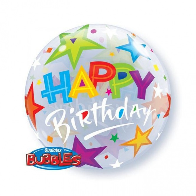 Balloon Bubble Birthday Brilliant Stars