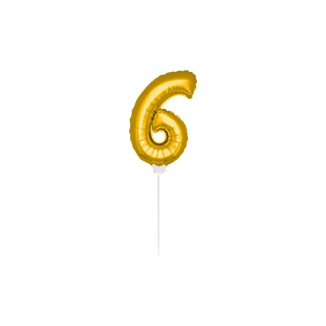 Mini Golden Balloon Number 6